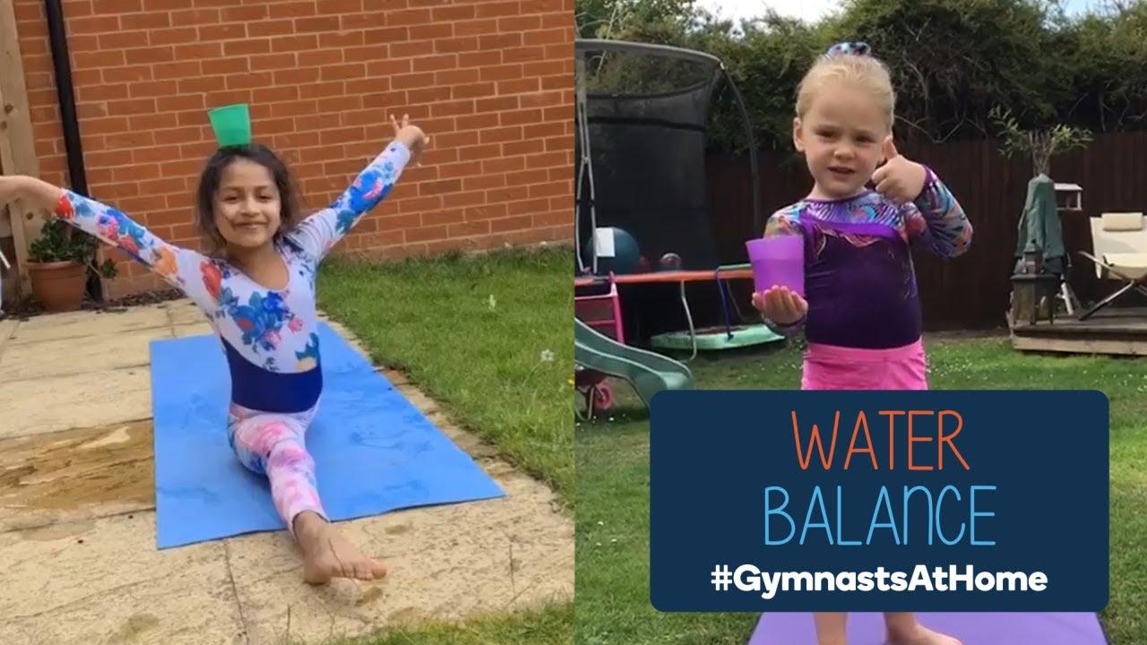 #GymnastsAtHome water challenge