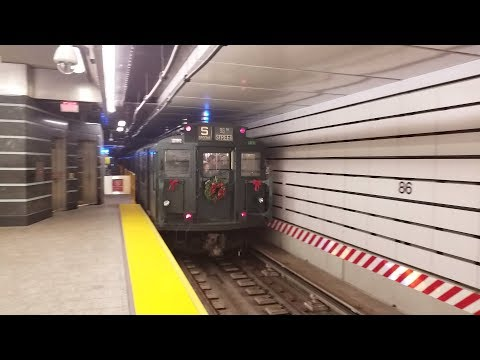 NYC Subway HD 60fps: Riding IND R1/9 Holiday Train via IND Second Avenue Subway (Round Trip RFW)