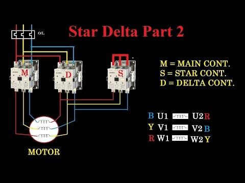 star delta starter motor control with circuit diagram in hindi part 2 Weg Motor Wiring Diagram