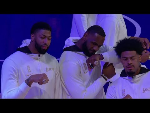 LeBron, Anthony Davis, Lakers Get Their Championship Rings | Full Ceremony