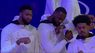 LeBron, Anthony Davis, <b>Lakers</b> Get Their Championship Rings | Full ...