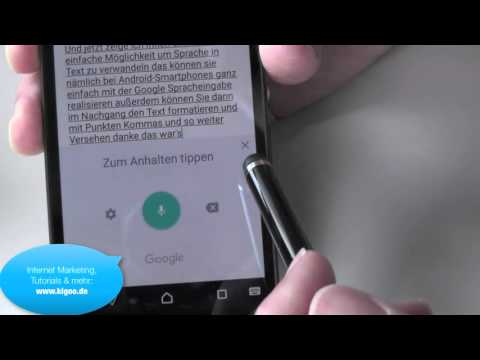 Speech To Text - Android Smartphone - Sony Xperia Z