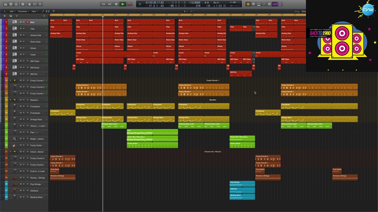 Synthwave Logic Pro X Template Back to 1980 - YouTube