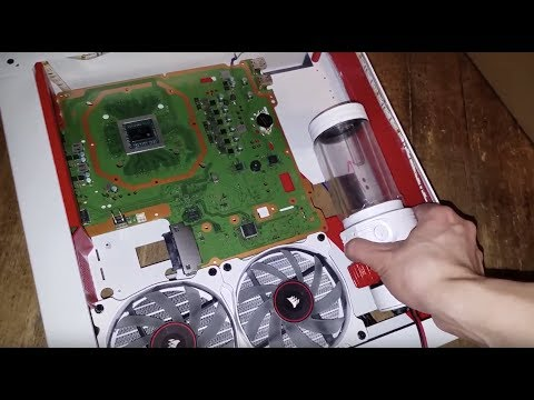 Ps4 Pro Water Cooled (Part 2) Adding WaterBlock & Placing The Components