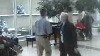 Andy Bollig playing Christmas music at the Mayo Clinic part 1