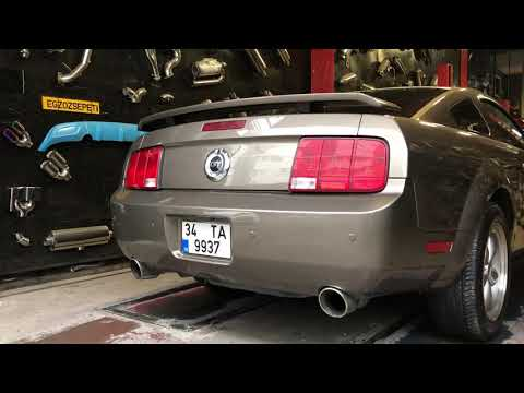 Mustang GT 4.0 v6 Egzoz Sesi