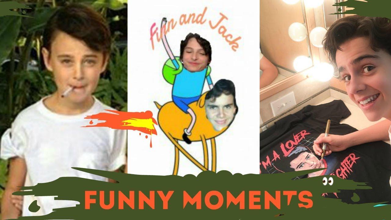 IT funny moments - Finn Wolfhard, Sophia Lillis , Jaeden Lieberher,Jack Grazer