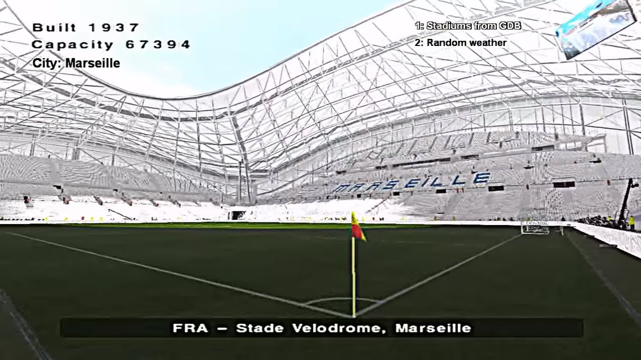 Pes 6 france stade velodrome marseille olympique de for Porte 7 stade velodrome