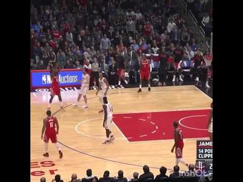 """Clean up on Aisle 3"" James Harden spills Wesley Johnson with crossover, stares at him then drains 3"
