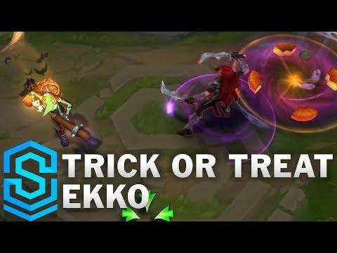 Trick or Treat Ekko Skin Spotlight - League of Legends