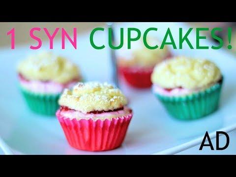 Slimming World 1 Syn Victoria Sponge Cupcakes   TastefullyVikkie.com #AD