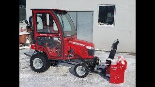 Massey Ferguson GC1700 with MF2360 Snow Blower Inside Curtis Cab Ray III by  Sosler's Garden & Farm Equipment