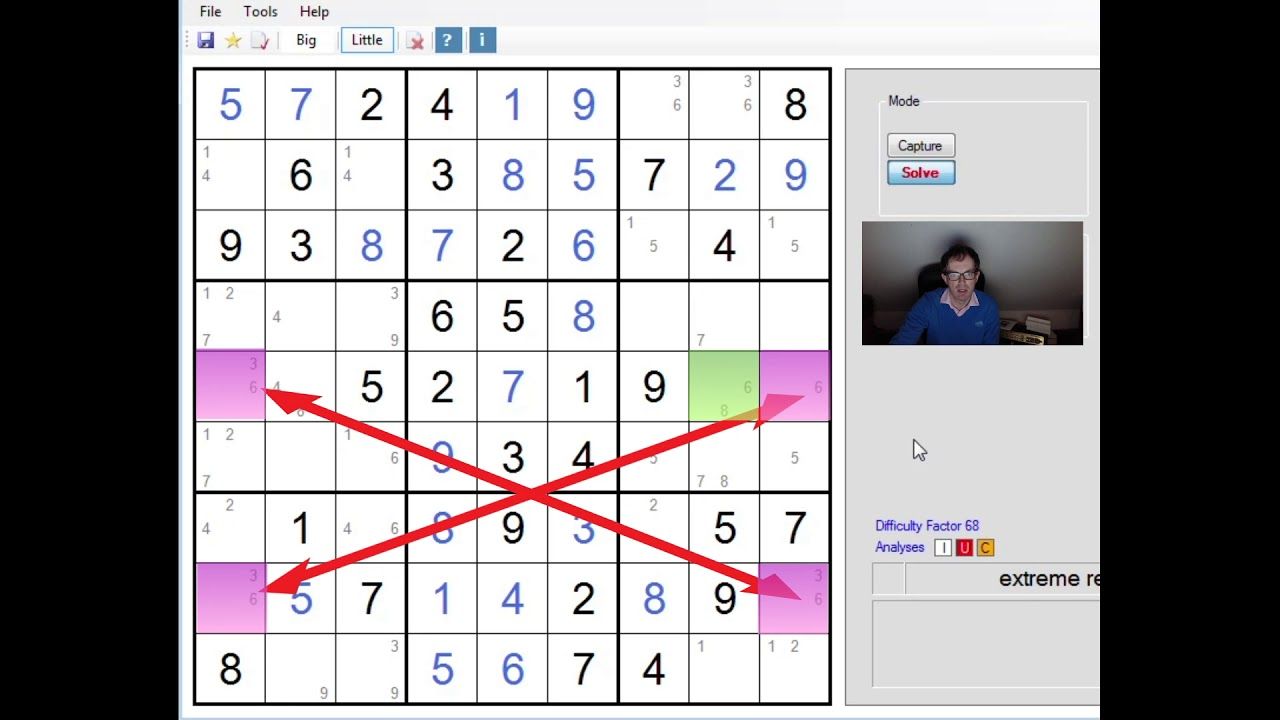 Extreme Sudoku: Finned Fish, XYZ Wings And Empty Rectangles