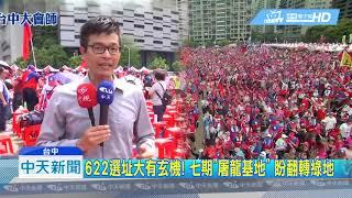 20190622中天新聞 紅潮擠爆台中! 韓國瑜未到 主辦單位:破8萬人