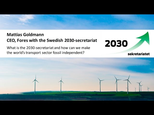 Mattias Goldmann about the 2030-secretariat