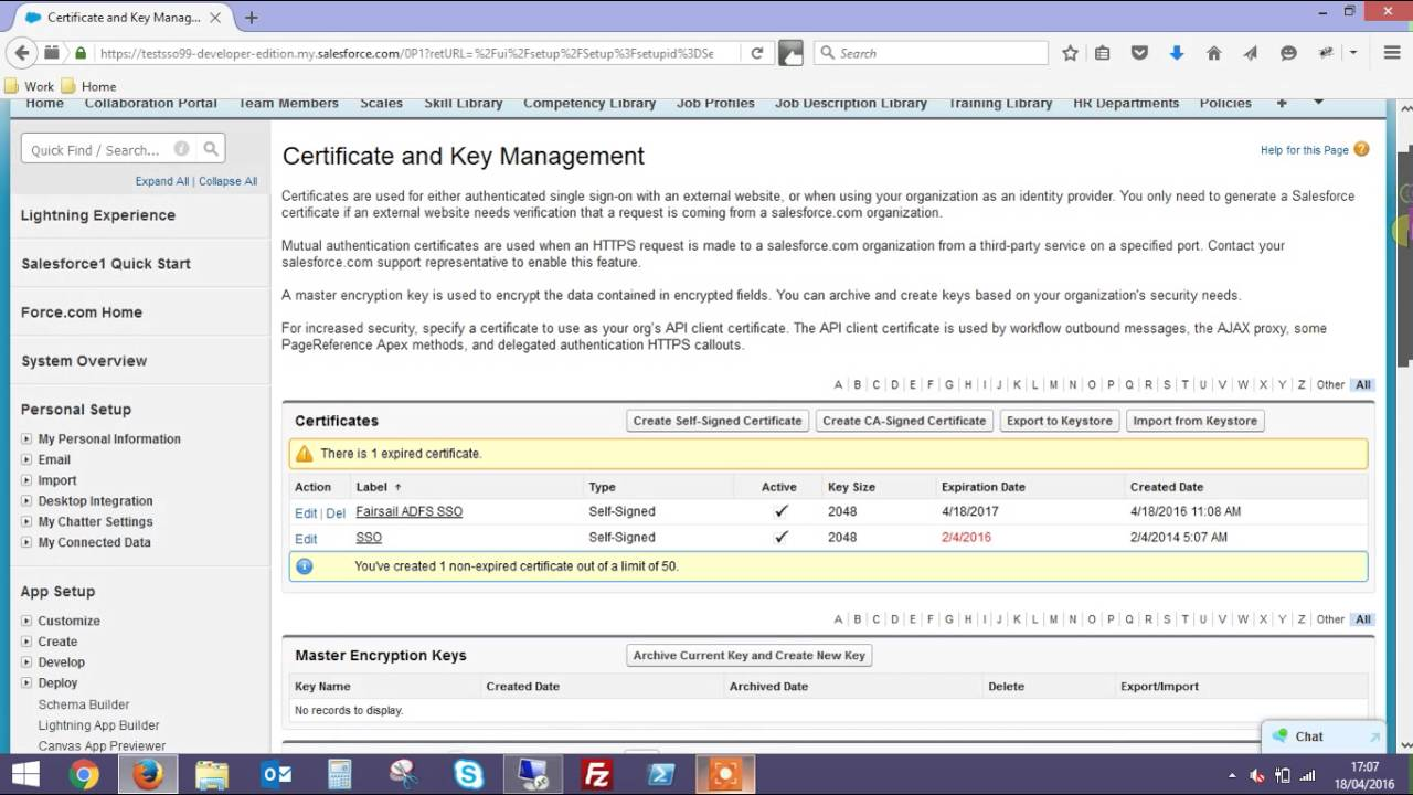 Update your SSO Certificate