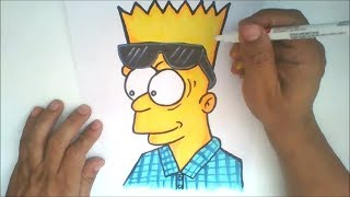 How To Draw CHOLO BART -  Step by Step