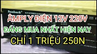 Amply Bluetooth 12v 220v 6188BT đáng mua nhất tầm giá 1 triệu 250k chế loa kéo ngon