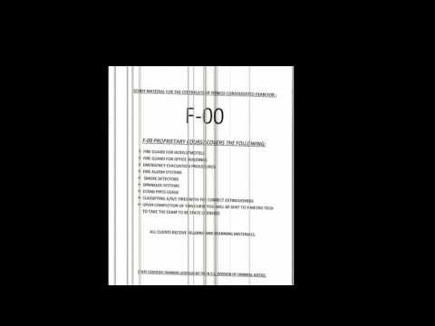 F00 FIRE GUARD EXAM