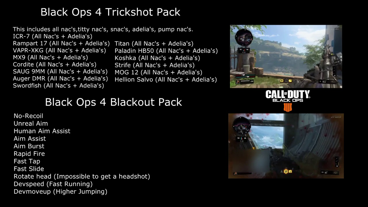 [UPDATED] NEW Call of Duty: Black Ops 4 Blackout/Trickshot Scripts  [CronusMax  Titan, PS, XBOX, PC]