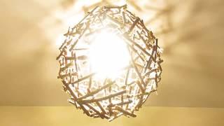DIY ECOLOGIC LAMPSHADE/ ЭКОЛОГИЧЕСКИЙ  АБАЖУР