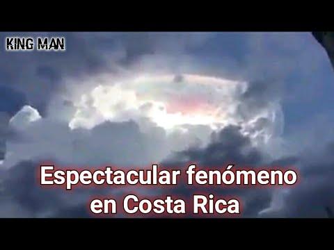 Espectacular fenómeno en el cielo de Costa Rica que para muchos era un OVNI camuflado en el cielo
