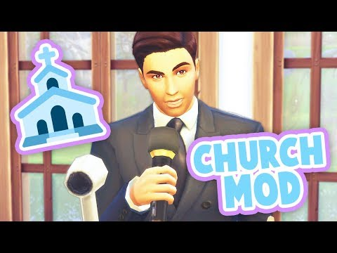 CHURCH EVENT⛪ // HAVE YOUR SIMS ATTEND CHURCH | MOD REVIEW – THE SIMS 4