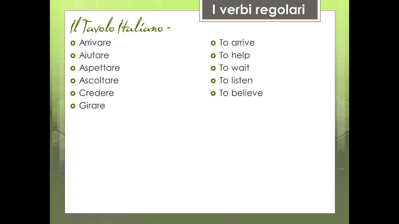Souvent Imparando a parlare l'inglese _ vocabolario dei verbi regulari in  JD33