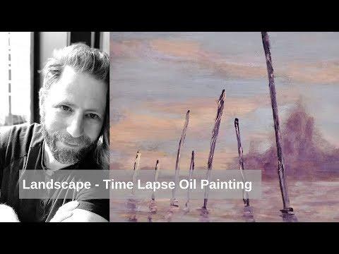 Landscape – Time Lapse Oil Painting