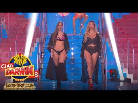 Ciao Darwin 8  - Web e Tv: sfilata in intimo donna