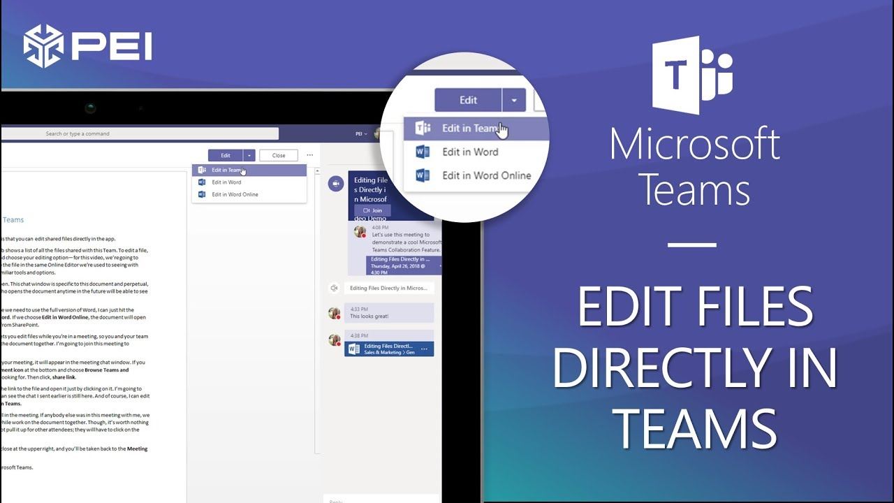 Microsoft Teams | PEI - How to Edit Files in Teams