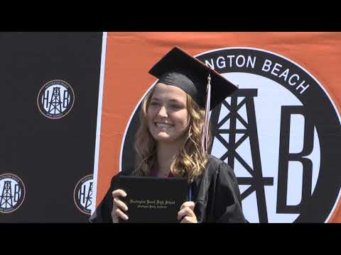 Huntington Beach High School Drive By Graduation