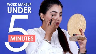 Office Makeup Under 5 Minutes (Hindi) | Quick & Easy Everyday Makeup Routine For Work | Be Beautiful