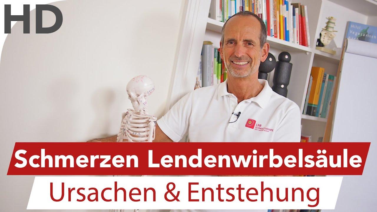 LWS Schmerzen am Modell erklärt // Lendenwirbelsäule ...