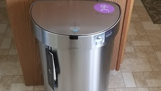 QVC Simplehuman 45 Liter Stainless Steel Sensor Trash Can with Liners