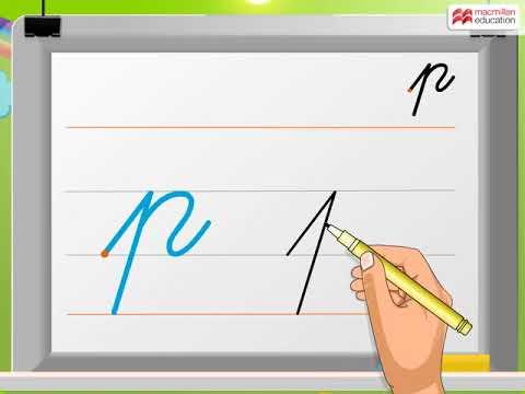 Cursive Writing | Small Letter 'p' | Macmillan Education India