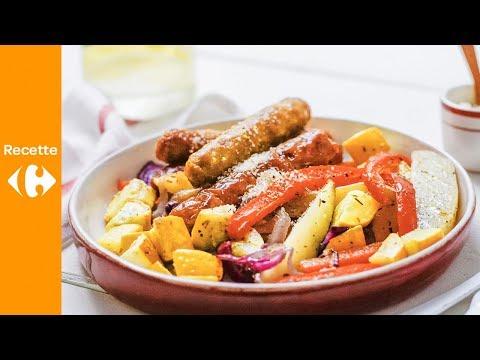 sheet-pan-aux-saucisses-et-légumes-grillés