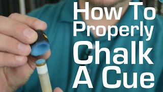 Pool Chalk - How to Properly Chalk a Pool Cue