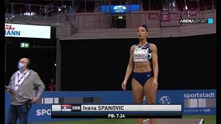 DUSSELDORF - Ivana Španović se vratila u odličnoj formi / 31.01.2021.