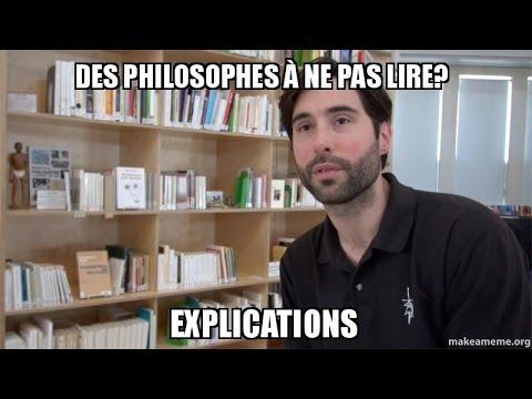 Les philosophes à ne pas lire?