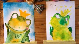 ЛЯГУШКА. Рисование для малышей. Рисуем с Илюшей