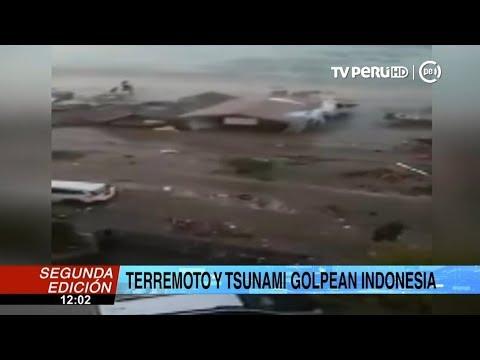 Terremoto De 7,5 Grados Y Posterior Tsunami Afectan Dos Ciudades De Indonesia