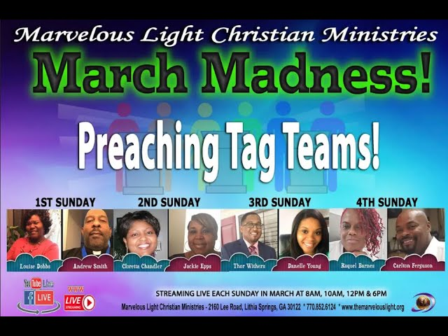 03-07-2021- March Madness, Part 1 - Speakers: Elder Louise Dobbs and Elder Andrew Smith
