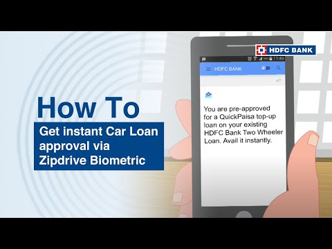 Waiting for car loan approval? Not with HDFC Zipdrive Biometric. HDFC Bank, India's no. 1 bank*