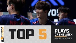 Overwatch League Top 5 Plays – Stage 1 – Week 1