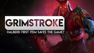 DOTA 2-- Grimstroke Halberd first item saves the game? -7k Full Gameplay