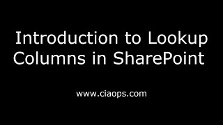 Introduction to Lookup Columns in SharePoint