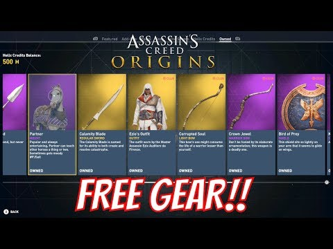 Assassins Creed Origins – Get Free Gear and Drachmas from UPLAY, Monster and Twitch Prime!