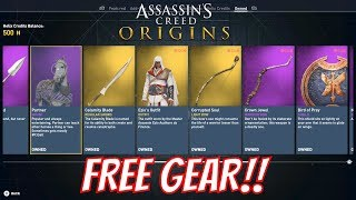 Assassins Creed Origins - Get Free Gear and Drachmas from UPLAY, Monster and Twitch Prime!