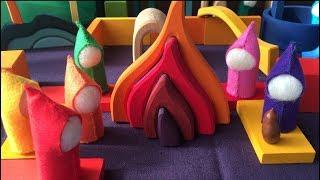 """3分で出来る簡単な""""シュタイナー""""の小人の作り方です。遊ぶ子どもが 楽..."""